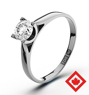 Grace Platinum Canadian Diamond Ring 0.50CT H/SI2
