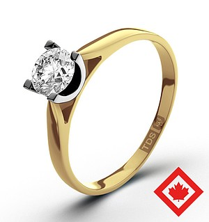 Grace 18K Gold Canadian Diamond Ring 0.50CT G/VS1
