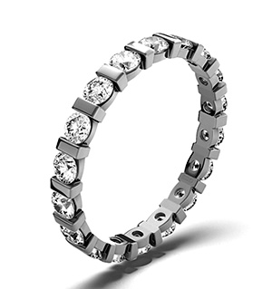 HANNAH PLATINUM DIAMOND FULL ETERNITY RING 1.00CT H/SI