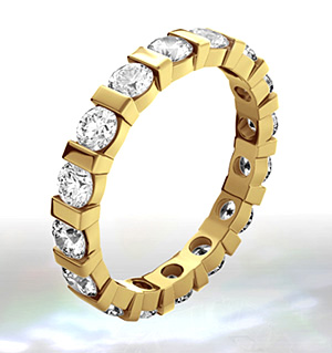 Hannah 18K Gold Diamond Full Eternity Ring 3.00CT G/VS