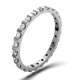 HANNAH PLATINUM DIAMOND FULL ETERNITY RING 0.50CT G/VS