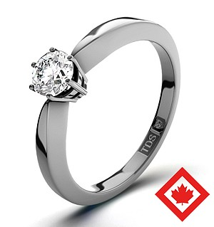 High Set Chloe Platinum Canadian Diamond Ring 0.30CT H/SI1