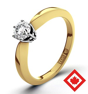 High Set Chloe 18K Gold Canadian Diamond Ring 0.30CT H/SI2