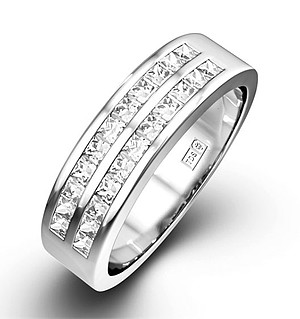 HOLLY PLATINUM Diamond ETERNITY RING 1.00CT H/SI