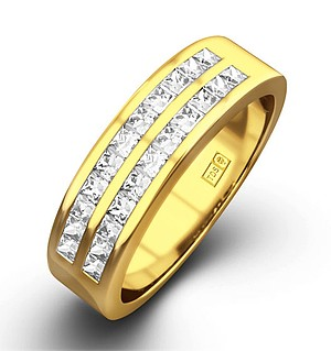 HOLLY 18K Gold Diamond ETERNITY RING 0.50CT G/VS