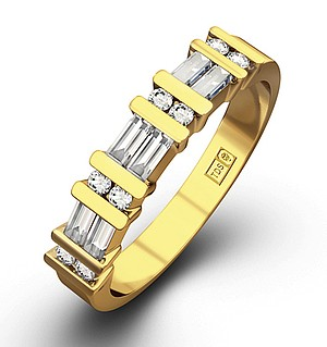 JESSICA 18K Gold Diamond ETERNITY RING 0.50CT H/SI