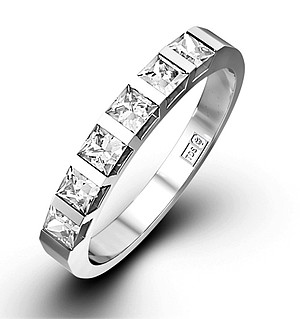 OLIVIA PLATINUM Diamond ETERNITY RING 1.00CT H/SI