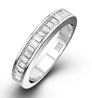 GRACE 18K White Gold Diamond ETERNITY RING 1.00CT H/SI