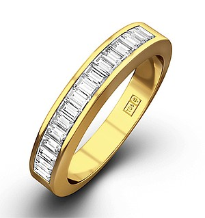 GRACE 18K Gold Diamond ETERNITY RING 1.00CT G/VS
