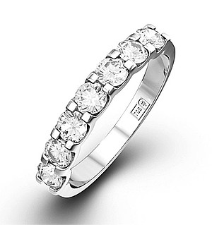 CHLOE 18K White Gold Diamond ETERNITY RING 1.00CT H/SI