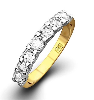 CHLOE 18K Gold Diamond ETERNITY RING 0.50CT H/SI