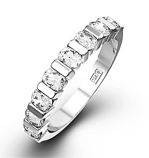 HANNAH 18K White Gold Diamond ETERNITY RING 0.50CT G/VS