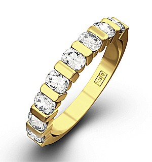 HANNAH 18K Gold Diamond ETERNITY RING 1.00CT H/SI