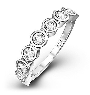 EMILY 18K White Gold Diamond ETERNITY RING 1.00CT G/VS