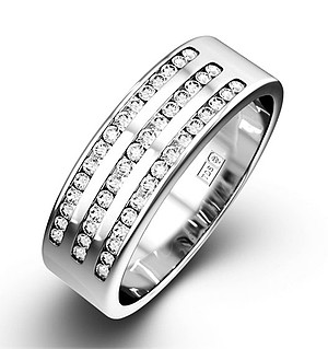 AMY 18K White Gold Diamond ETERNITY RING 1.00CT G/VS