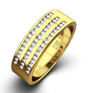 AMY 18K Gold Diamond ETERNITY RING 0.50CT H/SI