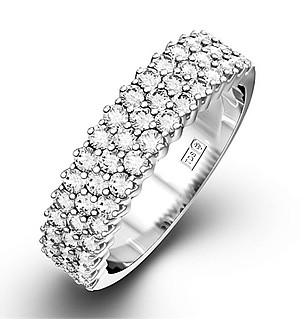 JASMINE 18K White Gold Diamond ETERNITY RING 0.50CT H/SI