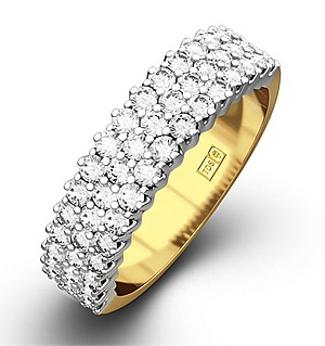 JASMINE 18K Gold Diamond ETERNITY RING 0.50CT H/SI