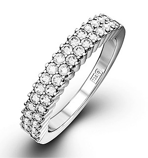 SOPHIE 18K White Gold Diamond ETERNITY RING 0.50CT G/VS