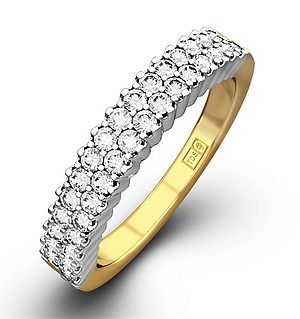 SOPHIE 18K Gold Diamond ETERNITY RING 0.50CT H/SI
