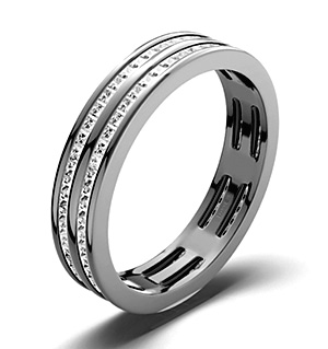 HOLLY PLATINUM DIAMOND FULL ETERNITY RING 1.00CT G/VS