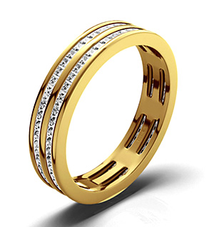 HOLLY 18K Gold DIAMOND FULL ETERNITY RING 1.00CT H/SI