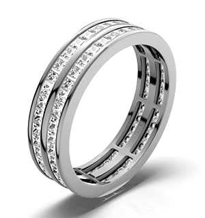 HOLLY 18K White Gold DIAMOND FULL ETERNITY RING 2.00CT H/SI