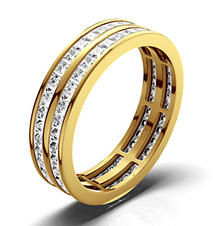 HOLLY 18K Gold DIAMOND FULL ETERNITY RING 2.00CT H/SI