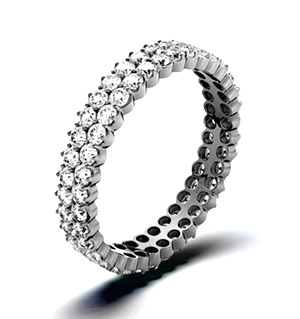 JASMINE 18K White Gold DIAMOND FULL ETERNITY RING 1.00CT H/SI