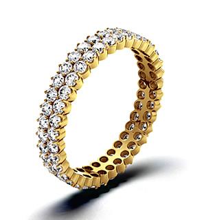 JASMINE 18K Gold DIAMOND FULL ETERNITY RING 1.00CT G/VS