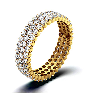 JASMINE 18K Gold DIAMOND FULL ETERNITY RING 2.00CT G/VS