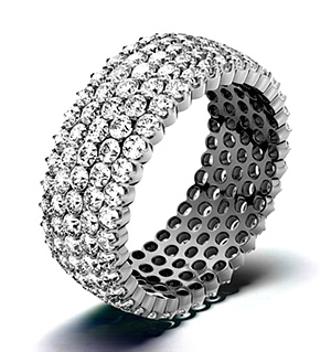 JASMINE PLATINUM DIAMOND FULL ETERNITY RING 3.00CT G/VS