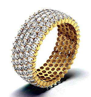 JASMINE 18K Gold DIAMOND FULL ETERNITY RING 3.00CT H/SI