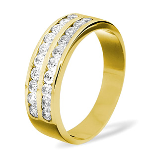 LUCY 18K Gold Diamond ETERNITY RING 0.50CT H/SI
