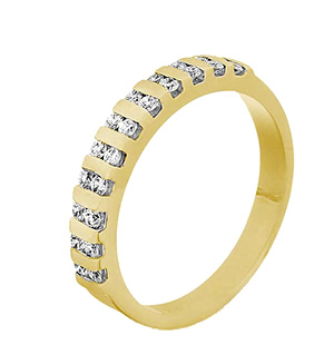 ELLIE 18KY DIAMOND HALF ETERNITY RING 1.00CT G/VS