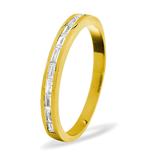 LILY 18K Gold Diamond ETERNITY RING 1.00CT G/VS