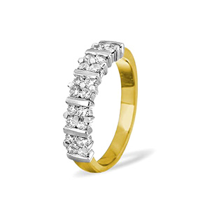 MIA 18K Gold Diamond ETERNITY RING 0.50CT H/SI