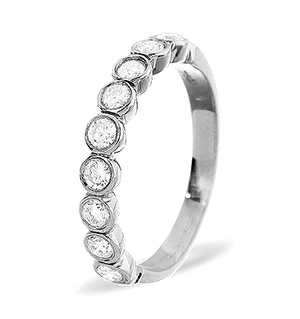 EMILY PLATINUM Diamond ETERNITY RING 0.50CT G/VS