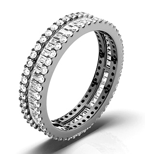 KATIE 18K White Gold DIAMOND FULL ETERNITY RING 1.00CT H/SI
