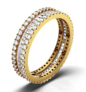 KATIE 18K Gold DIAMOND FULL ETERNITY RING 1.00CT G/VS