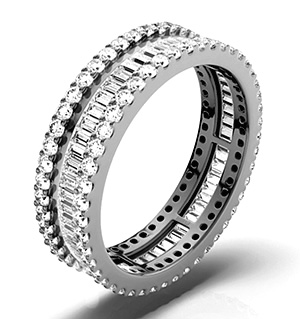 KATIE PLATINUM DIAMOND FULL ETERNITY RING 2.00CT G/VS