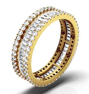 KATIE 18K Gold DIAMOND FULL ETERNITY RING 2.00CT H/SI