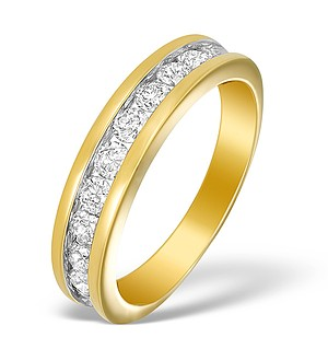18K Gold Diamond Half Eternity Ring - N3218