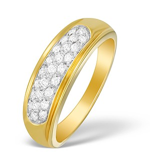 18K Gold Diamond Pave Set Ring - N3463