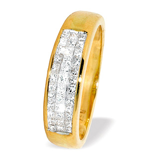 18K Gold Princess Cut Diamond Ring (0.50ct)