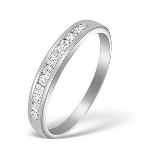 18K White Gold Diamond Half Eternity Ring - N3581