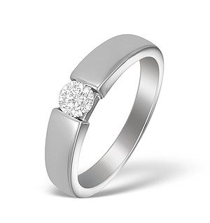 18K White Gold Diamond Solitaire Ring - N3846