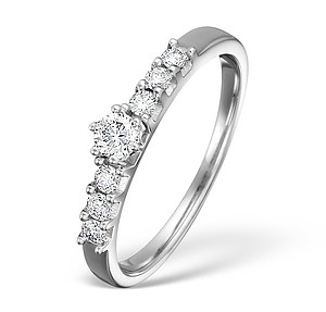 18K White Gold H/Si Diamond Ladies Solitaire Ring