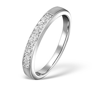 18K White Gold Ladies H/Si Diamond Half Eternity Ring