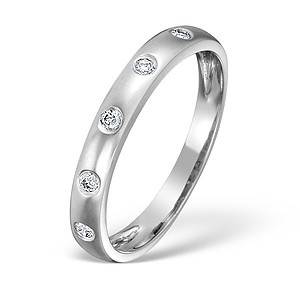 18K White Gold Ladies H/Si Diamond Eternity Ring